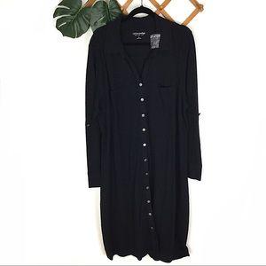 Soft Surroundings | NWT 2X Black Long Dress Button
